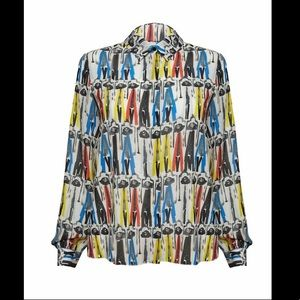Alice + Olivia Donald Robertson Stacey Montage Top